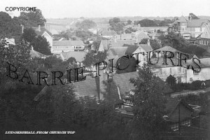 Ludgershall, from the Church Tower c1920