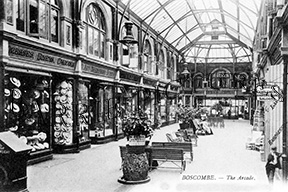 Boscombe, The Arcade c1900