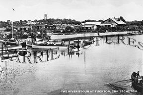 Tuckton, The River Stour c1950