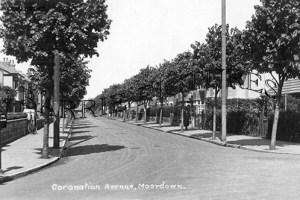 Moordown, Coronation Avenue c1940