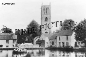 Banwell, the Church and Pond c1900