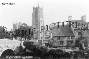 Bruton, Church and Bridge c1900