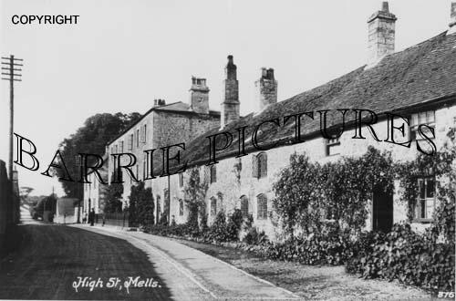 Mells, High Street c1910