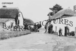 Porlock, Thatched Cottages c1910