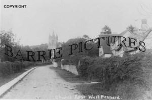 West Pennard, Church Lane c1910