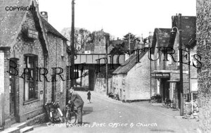 Templecombe, Post Office and Church c1950