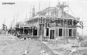Templecombe, Hospital Being Built 1905