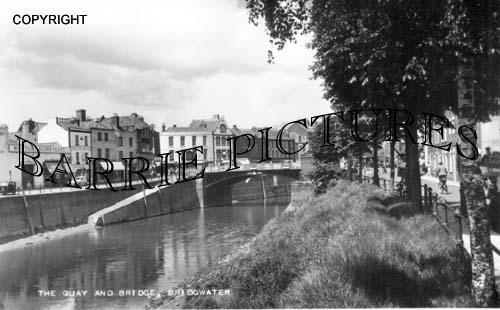 Bridgwater, The Quay and Bridge 1950