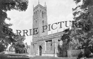Cheddar, Church and Vicarage c1940