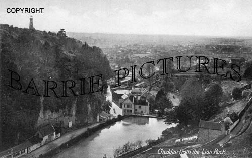 Cheddar, from the Lion Rock c1920