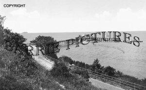 Weston Super Mare, Old Pier from Toll Road c1900