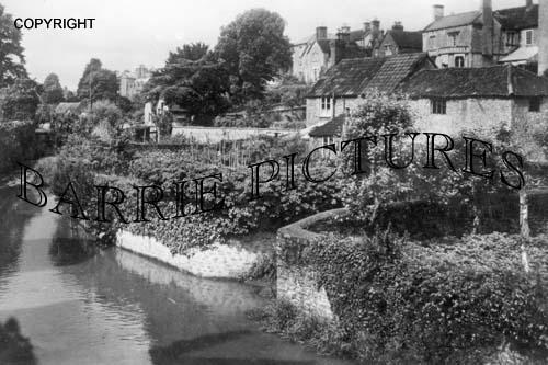 Bruton, from Packhorse Bridge c1940
