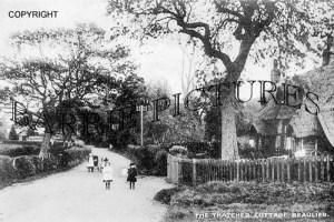 Beaulieu, Thatched Cottage c1910