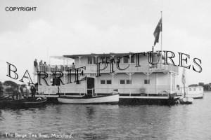 Mudeford, The Barge Tea Boat c1910