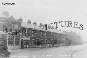 Swanwick, The Terrace Station Road c1900