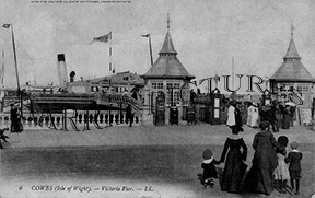 Cowes, Victoria Pier c1900