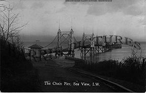 Seaview, The Chain Pier c1900