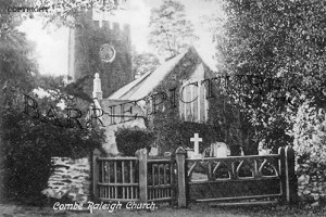 Combe Raleigh, the Church c1900