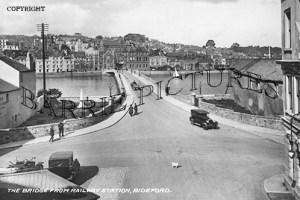 Bideford, the Bridge from Railway Station c1940