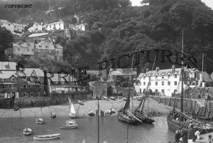 Clovelly, view from the Pier c1930