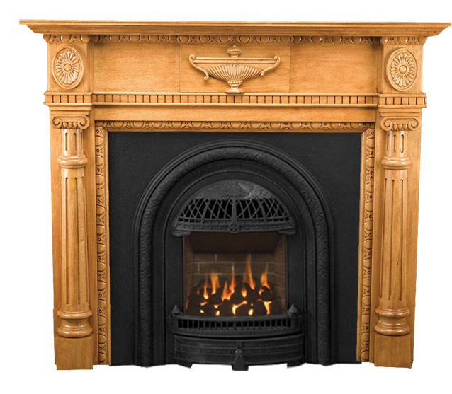 Small & Vintage Style Fireplace Mantels