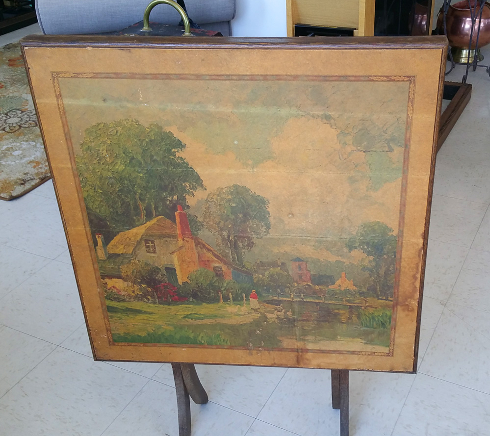 Vintage Folding Table Fireplace Screen