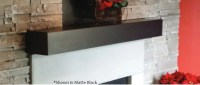 Steel mantel shelf is noncombustible