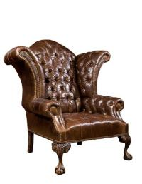 Classic Leather Wingback Chair | Victorian Brown Leather ...