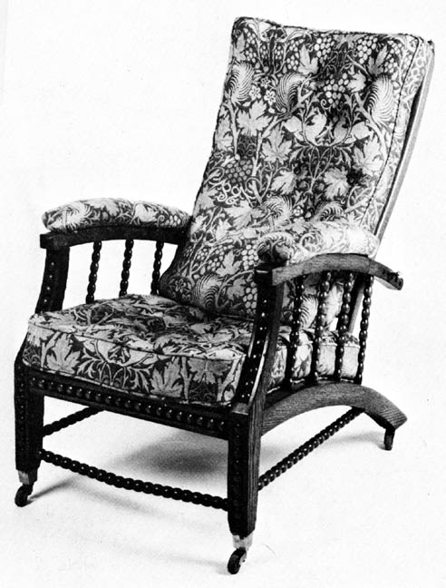 morris chair, copy, from 1866 drawing
