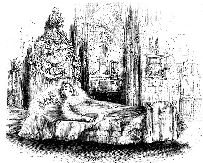 Image result for little nell illustration deathbed