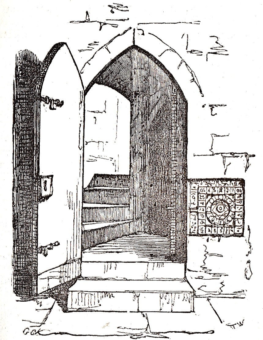 Mysterious Doorway Drawing & 21- Don\u0027t Forget To Lock