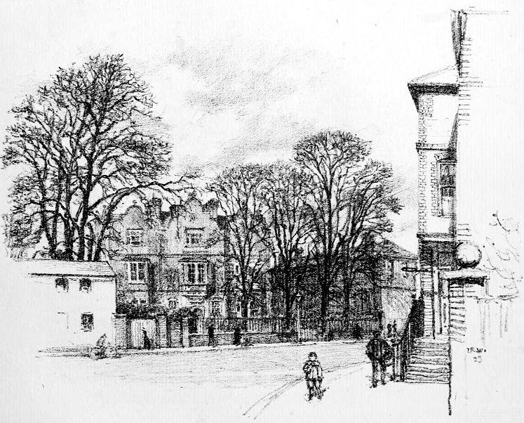 Eagle House, 1899, sketch by T R Way. This is the Internet Archive's version of a sketch in Boston Public Library's collection.