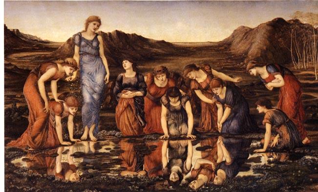 The Mirror of Venus by Sir Edward Coley Burne-Jones, Bt ARA