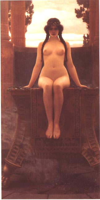 LOracle de Delphes, par John William Godward, 1899.