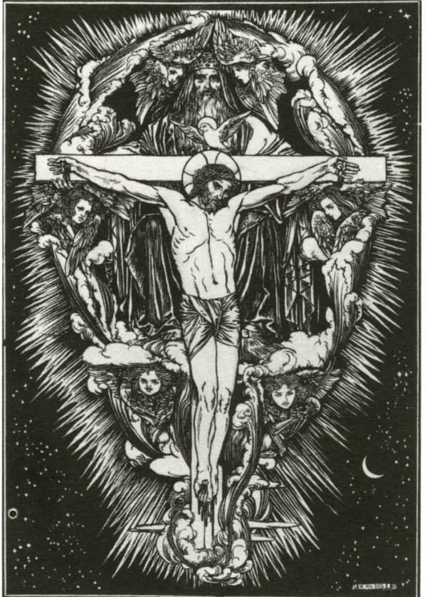 """ Trinity"" Altar Book Robert Anning Bell"