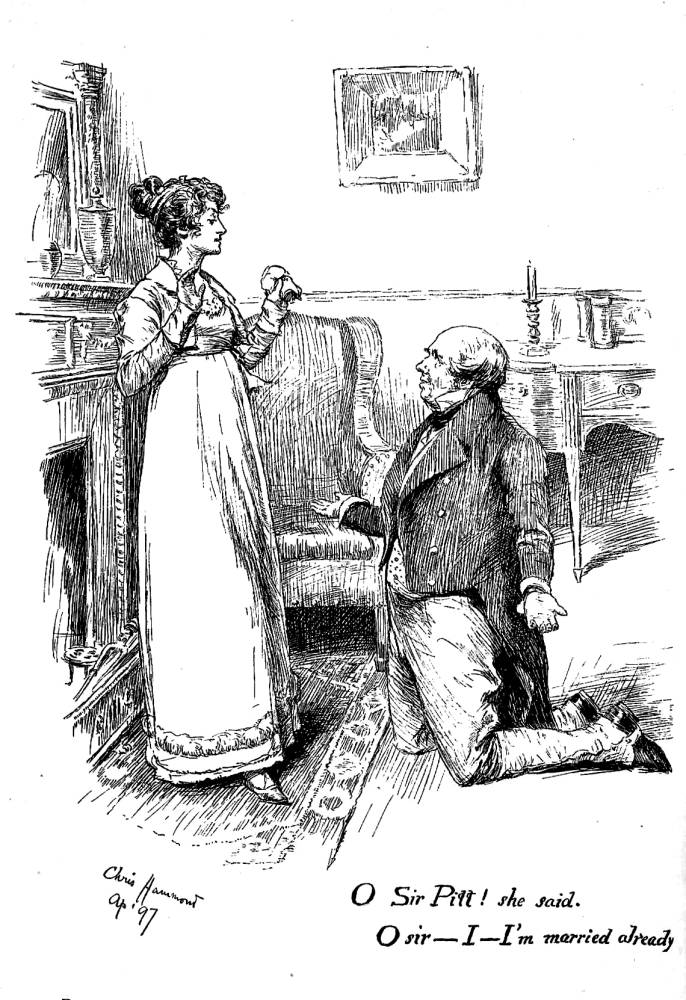 Frontispiece by Chris Hammond for W.M. Thackeray's 'Vanity