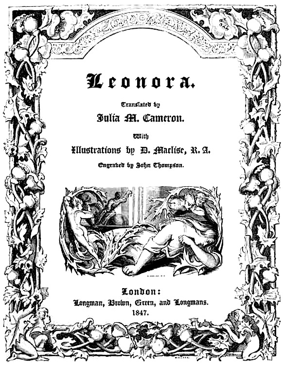Title Page of Julia M. Cameron's