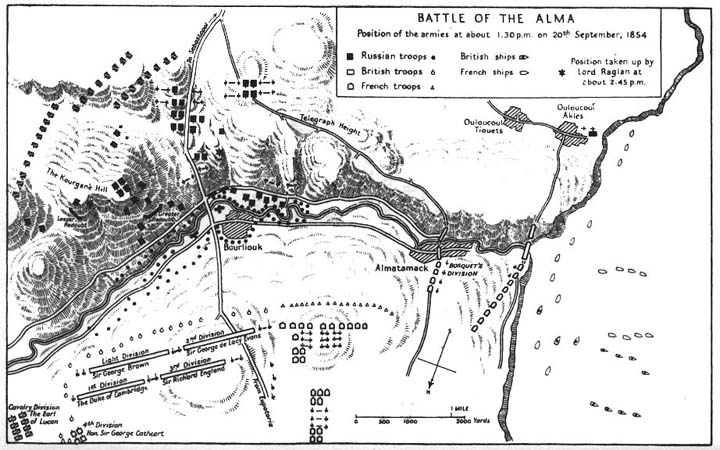 The Battle of the Alma: map