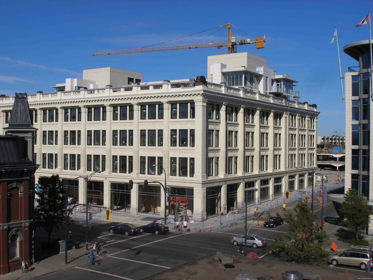 1701 Douglas Street in 2010, during renovation into The Hudson.
