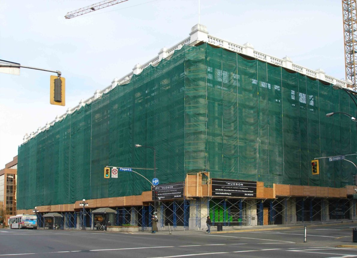 1701 Douglas Street, formerly the Hudson's Bay Company department store, under renovation in 2008.