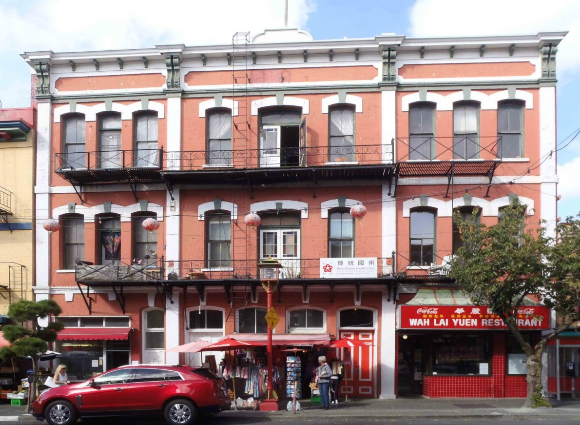 Chines Consolidated benevolent Association Building, 554-562 Fisgard Street (photo by Victoria Online Sightseeing Tours)