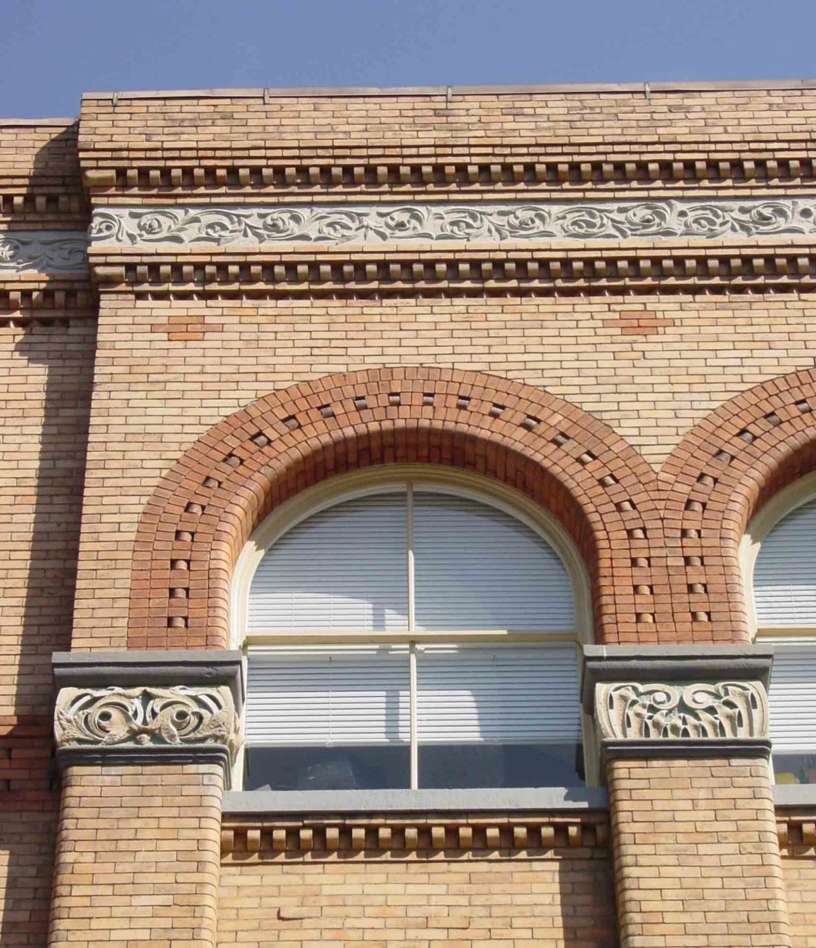 Vernon Building, decorative brickwork and detailing