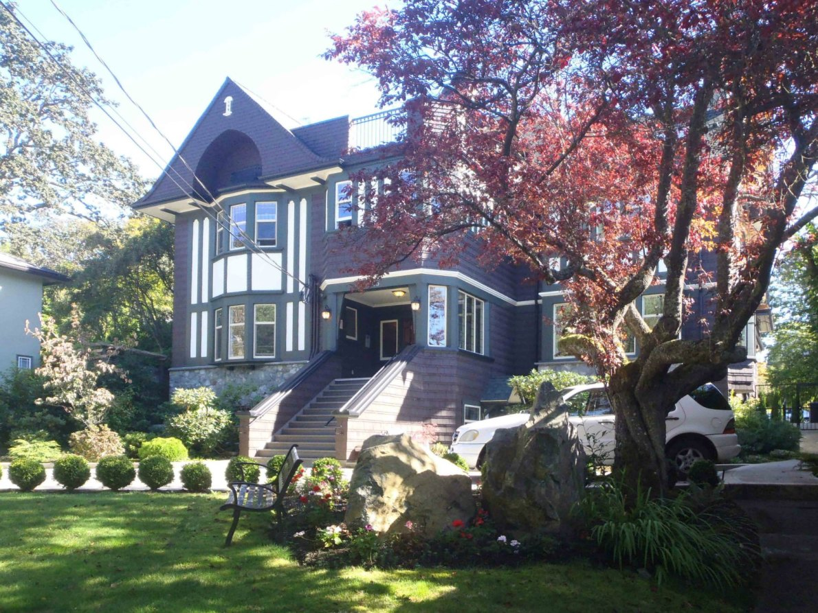 1015 Moss Street, built in 1912-13 by architects Percy Leonard James and Douglas James for Dr. James Helmcken and Ethel Helmcken