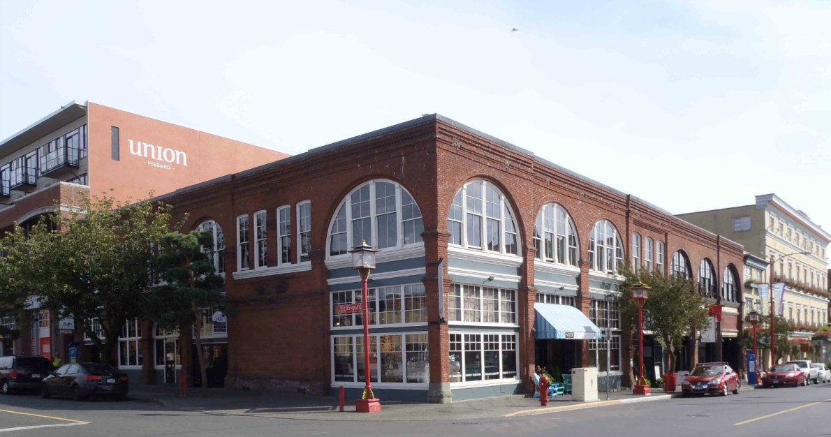 505 Fisgard Street/1623-1627 Store Street and 1619 Store Street, built in 1898 by architect Thomas Hooper (photo by Victoria Online Sightseeing Tours)