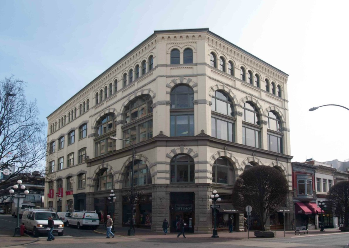The weiler building, 921 Government Street, built in 1899 (photo by Victoria Online Sightseeing Tours)