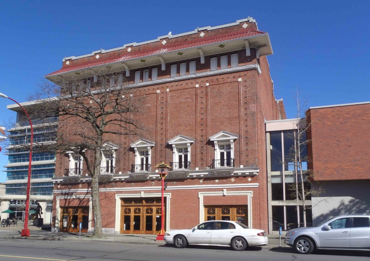 The McPherson Playhouse, 3 Centennial Square, was originally designed in 1914 as an office building by architect Jesse Warren