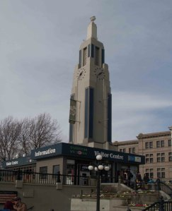 The Art Deco tower on the Visitor Information Centre at 812 Wharf Street was built in 1931 as a navigation beacon for seaplanes.
