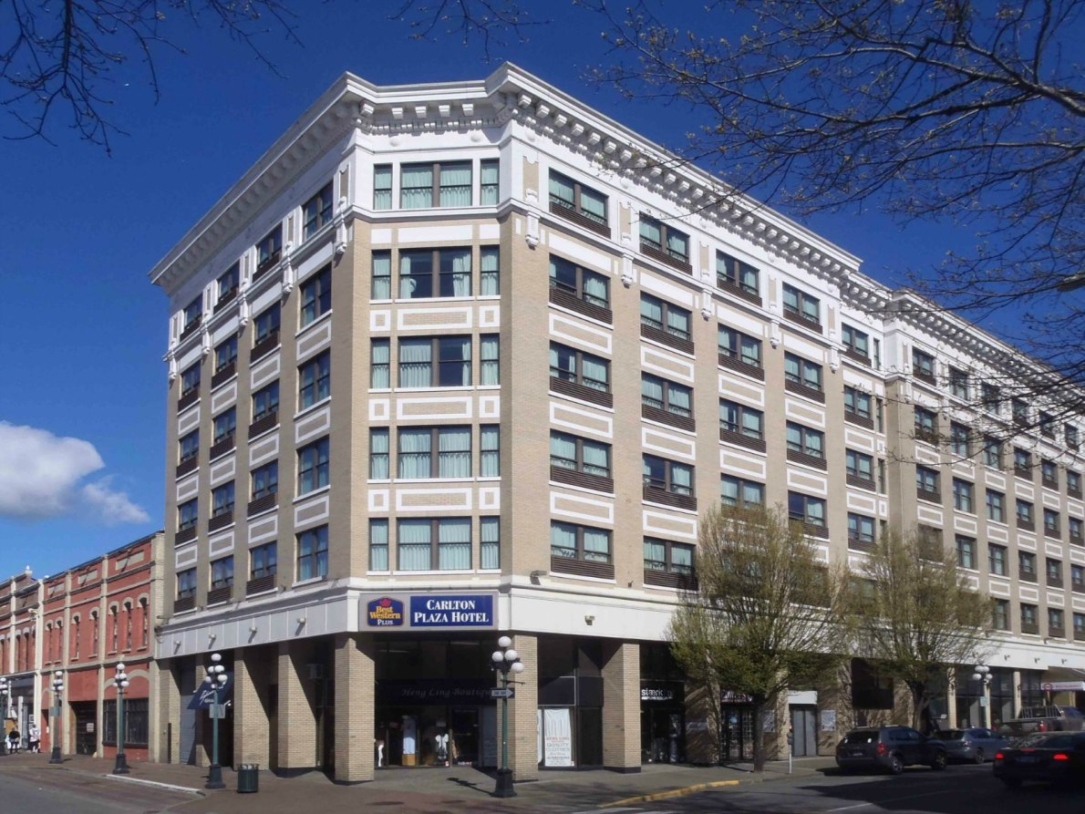 The 1981 addition to the Carlton Plaza Hotel, Johnson Street and Broad Street