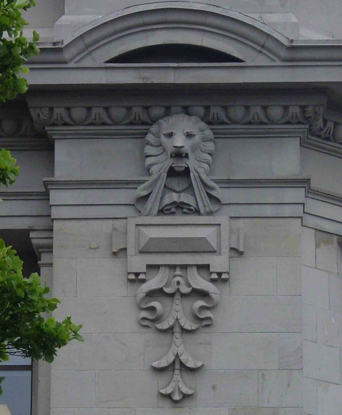Architectural detail, Bank of Montreal, 1225 Douglas Street