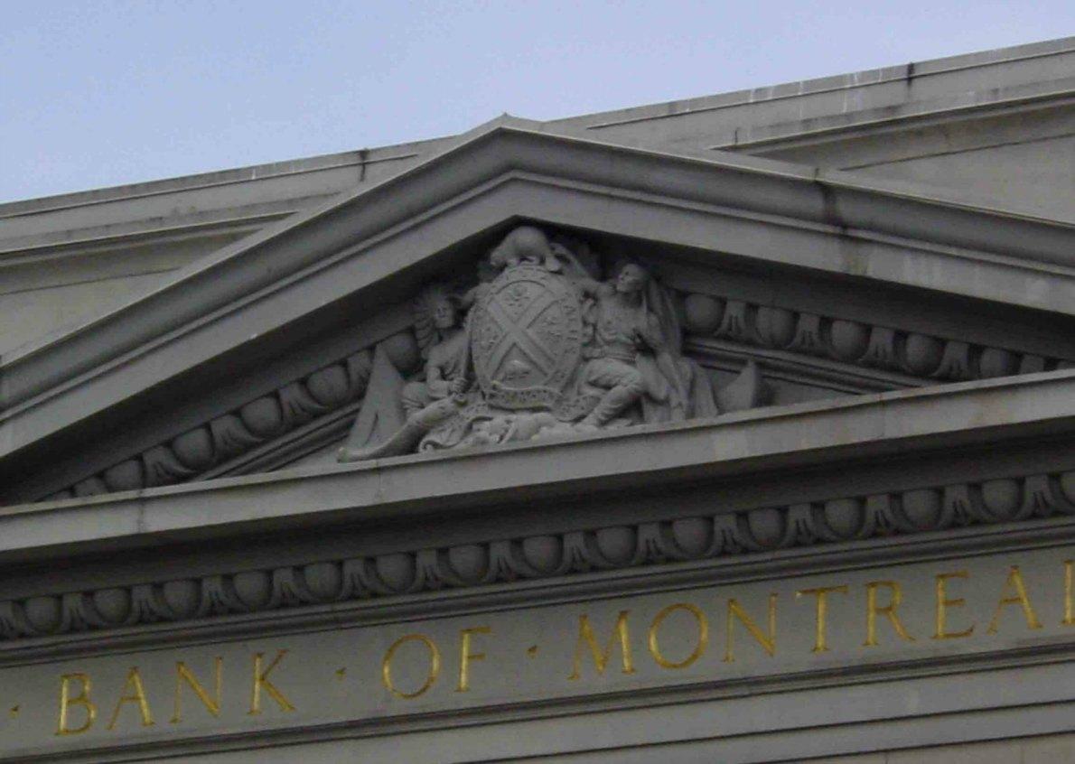 Merchants Bank logo, Bank of Montreal, 1225 Douglas Street